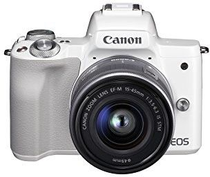 Canon EOS M50 + EF-M 15-45 mm STM Biały