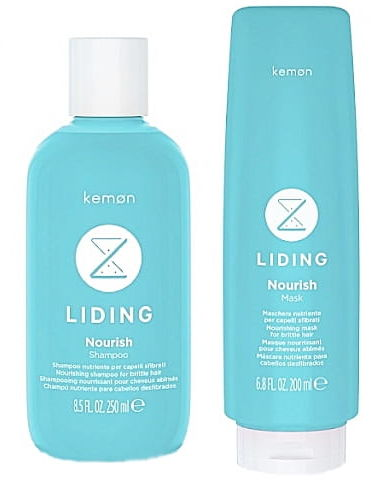 Kemon Liding Nourish szampon 250ml + maska 200ml suche włosy