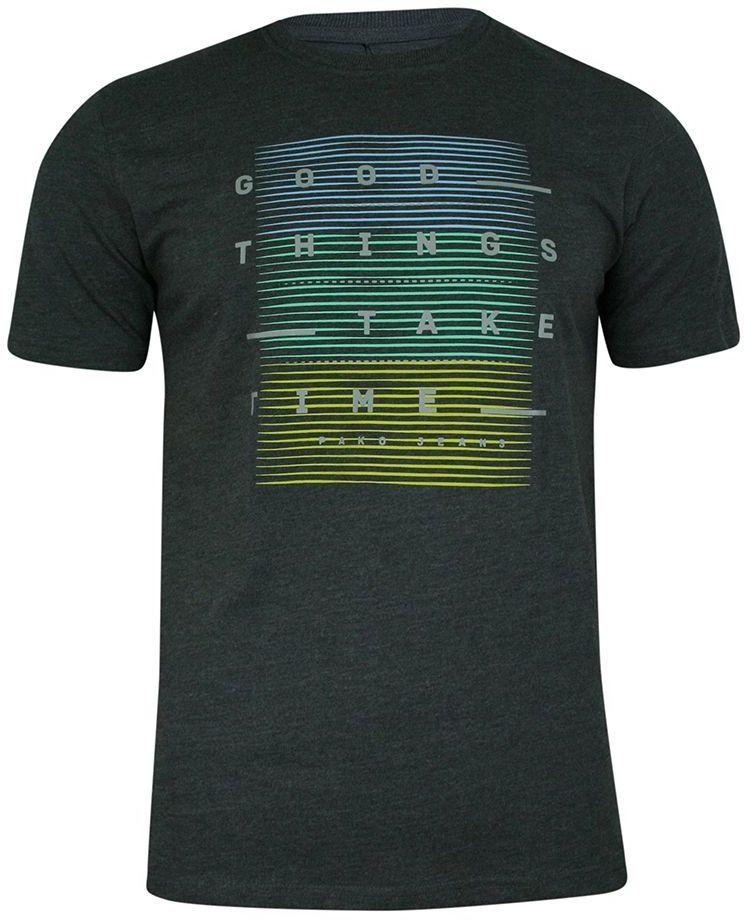 T-shirt Grafitowy, Szary, 100% Bawełna, z Nadrukiem, Męski, Krótki Rękaw, U-neck -PAKO JEANS TSPJNS4GOODTHINGSgf