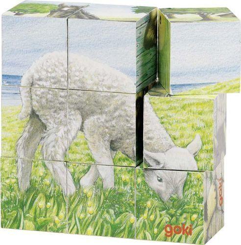 Klocki obrazkowe, zwierzęta na farmie, goki