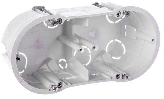 Puszka podtynkowa podwójna 60mm regips biała PKw-2 13.70 /5szt./
