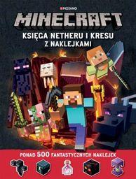 Minecraft księga netheru i kresu z naklejkami ZAKŁADKA DO KSIĄŻEK GRATIS DO KAŻDEGO ZAMÓWIENIA