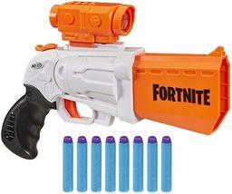 """Wyrzutnia Nerf Fortnite SR - 4 strzałki, przeładowywanie typu """"hammer action"""", zdejmowany celownik i 8 oryginalnych strzałek Nerf Elite - dla dzieci, młodzieży, dorosłych."""