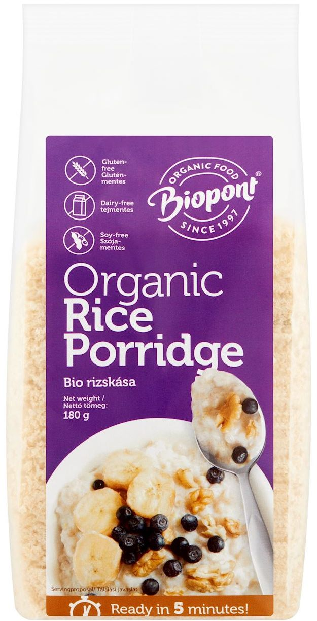 Kaszka ryżowa bezglutenowa bio 180 g - biopont