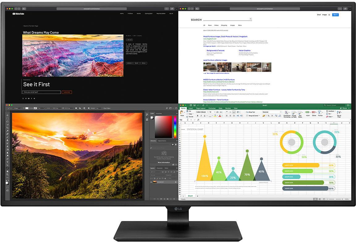 """LG 43UN700-B LED display 108 cm (42.5"""") 3840 x 2160 px Czarny"""