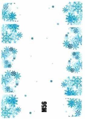 Naklejki świąteczne na paznokcie M56