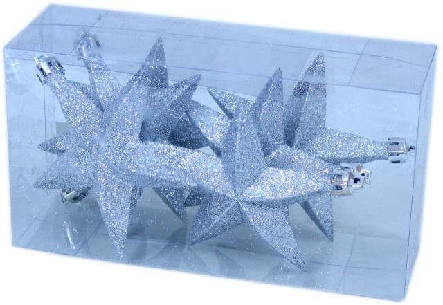 Gwiazdki dekoracyjne 11 cm kpl. 6 szt.