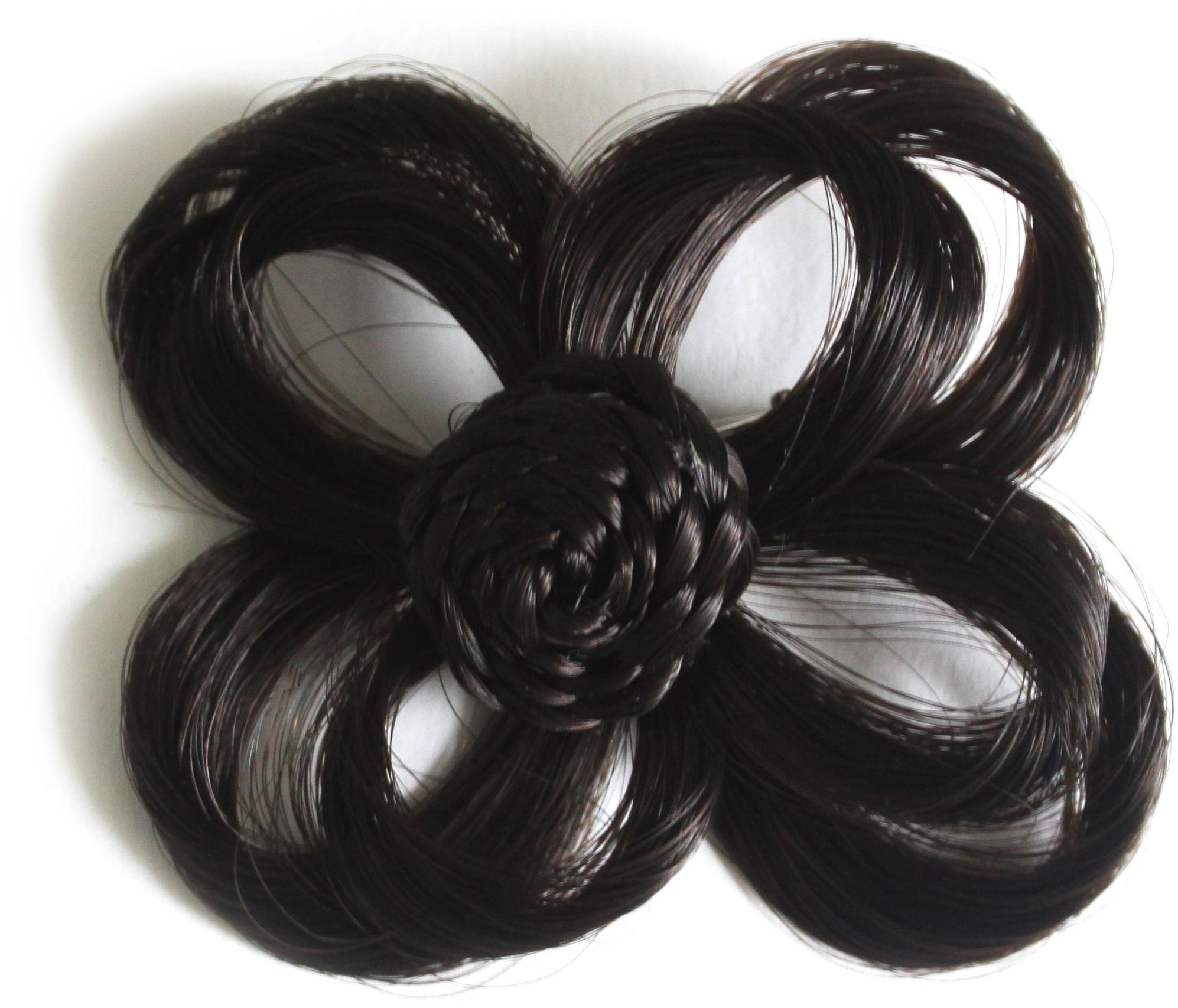 Love Hair Extensions Kwiat na zacisku krokodylkowym kolor 2 - ciemnobrązowy, 1 opakowanie (1 x 1 sztuka)