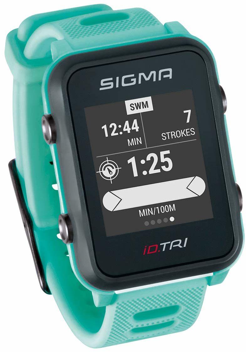 Sigma Sport Unisex ID.TRI Set Zegarek GPS, Zielony/Czarny