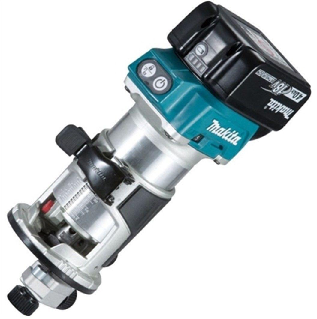 Akumulatorowa frezarko-wycinarka górnowrzecionowa Makita DRT50RTJX2 18V 2x5.0Ah