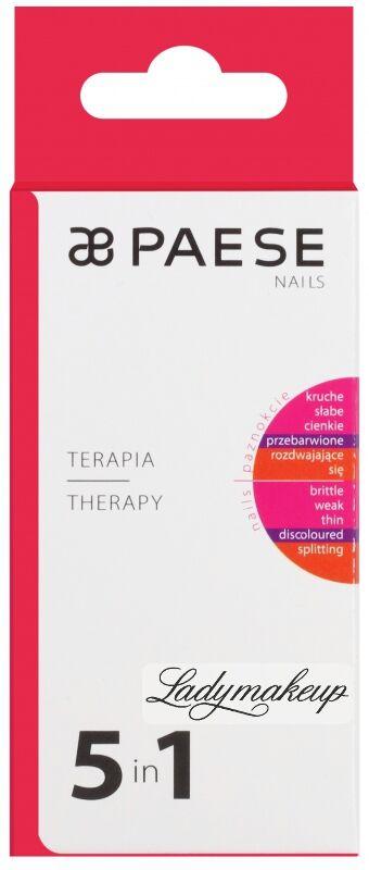 PAESE - THERAPY 5in1 - Kompleksowa odżywka regenerująca do osłabionych paznokci