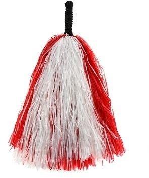 Pompon Cheerleaderki biało-czerwony