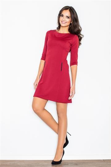 Sukienka Arlena M145 bordowa