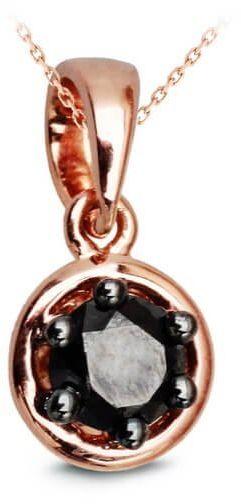 Złoty wisiorek - Diamentn czarny