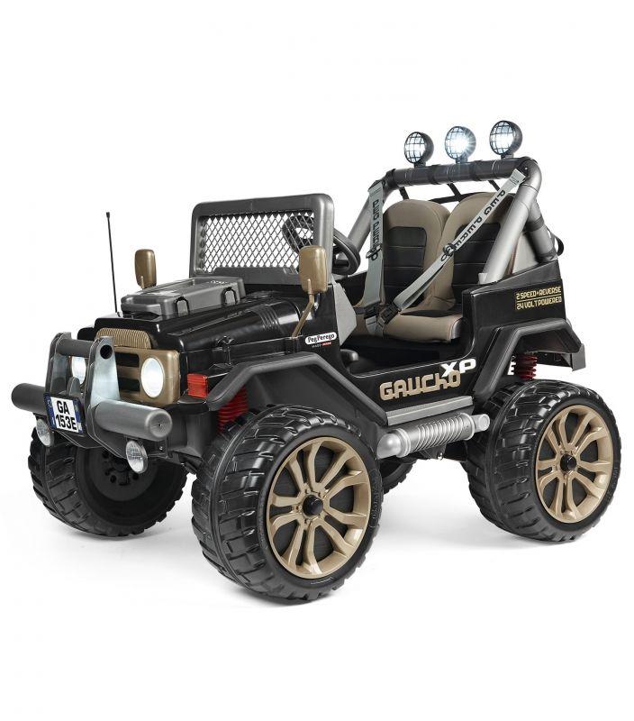 PEG PEREGO Samochód na Akumulator Gaucho XP Pojazd Jeep Terenowy 24V Radio Światła LK