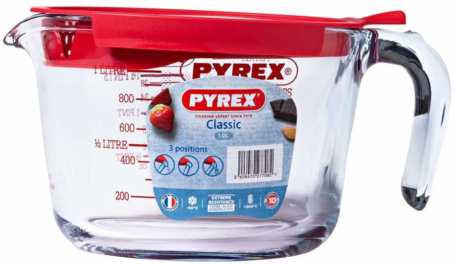Pyrex klasyczny dzbanek do mierzenia z pokrywką 1 l