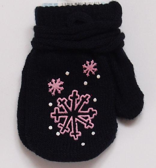 Rękawiczki dziecięce jednopalcowe śnieżynki