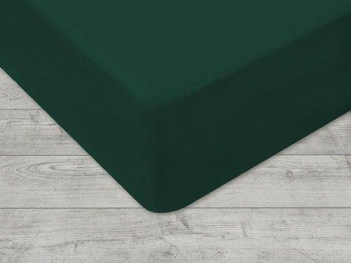Prześcieradło Jersey Z Gumką Zielone 160x200