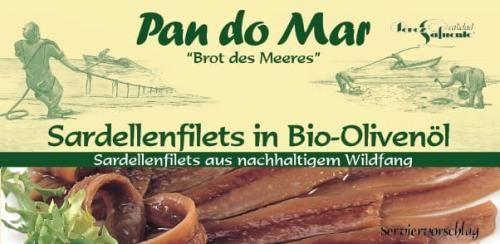Anchois (sardele) w BIO oliwie z oliwek 50g Pan do Mar