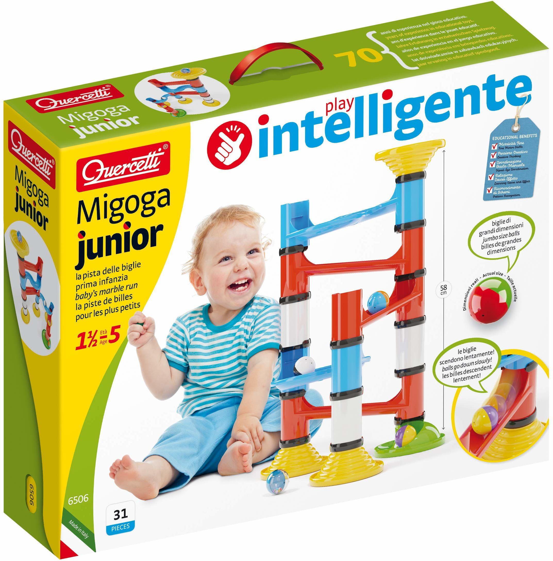 Quercetti 6506 Quercetti-6506 Migoga Junior Premium Marble Runs STEM edukacyjna zabawka do nauki
