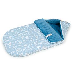 """Śpiworek do wózka gondoli fotelika 0-12 miesięcy """"S"""" - PREMIUM - Las jeansowy / jeans"""