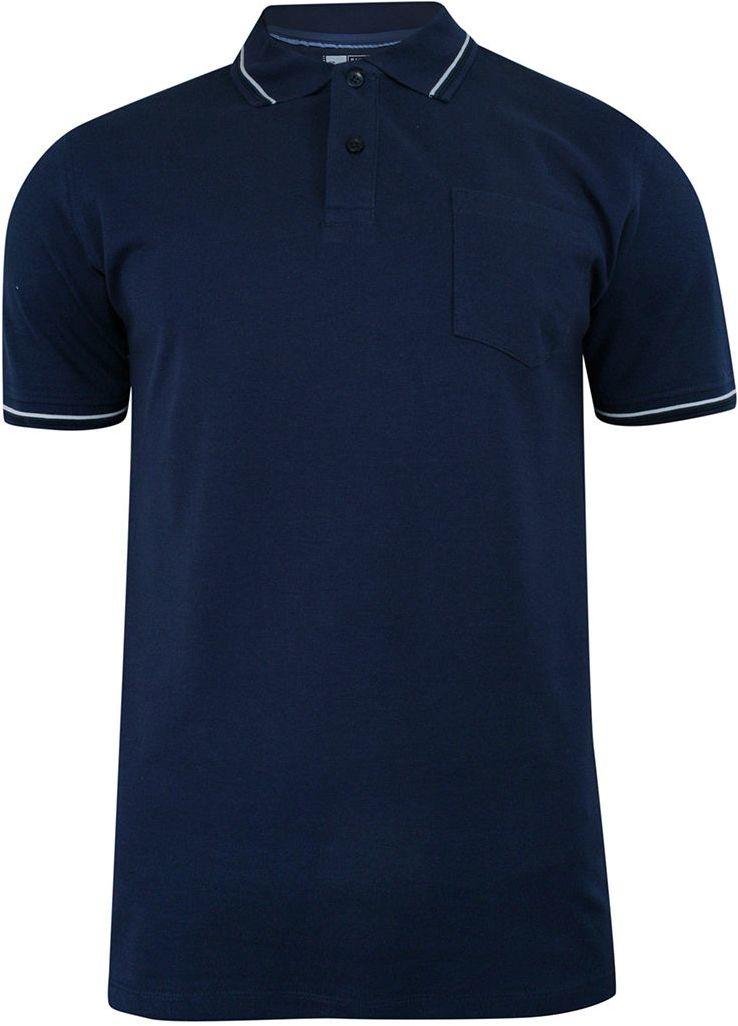 Koszulka POLO Ciemna Niebieska z Lamówką, Męska, Krótki Rękaw -PAKO JEANS- T-shirt, z Kieszonką TSPJNSPOLOCITYnb