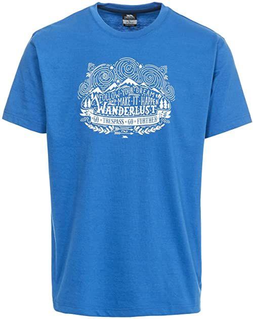 Trespass męski T-shirt z krótkim rękawem Hainey Jasnoniebieski XXS
