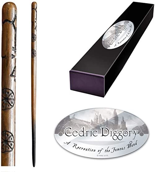 The Noble Collection - Cedric Diggory Character Wand - 15in (38cm) High Quality Wizarding World Wand With Name Tag - Harry Potter Film Set Movie Props Wands