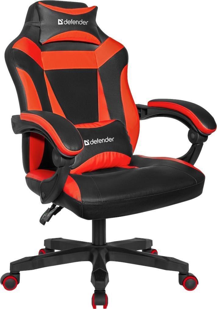 Fotel dla gracza Defender MASTER czarno-czerwony