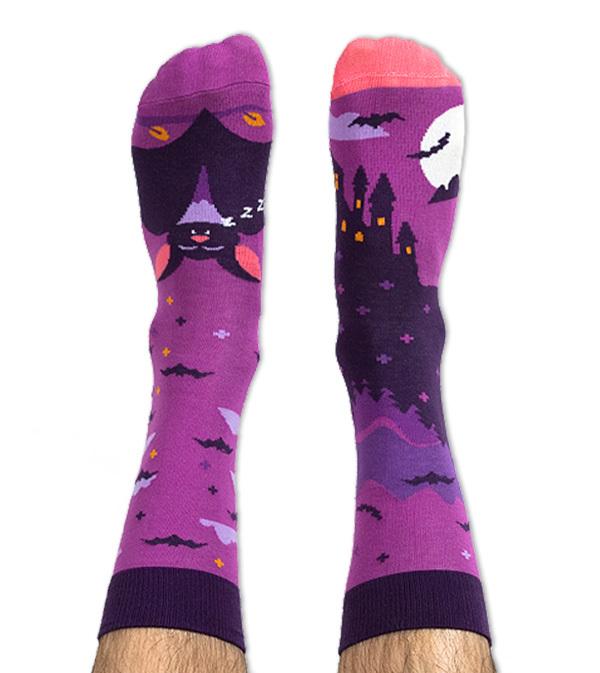 Skarpety kolorowe nietoperz - Bat Boy