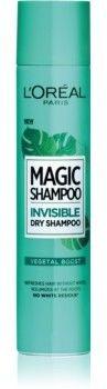 LOréal Paris Magic Shampoo Vegetal Boost suchy szampon zwiększający objętość włosów, który nie pozostawia białych śladów 200 ml
