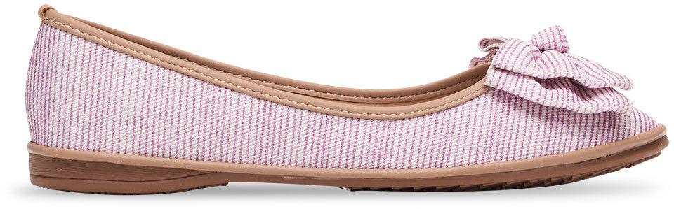 Balerinki damskie Ideal Shoes M-8805 Różowe