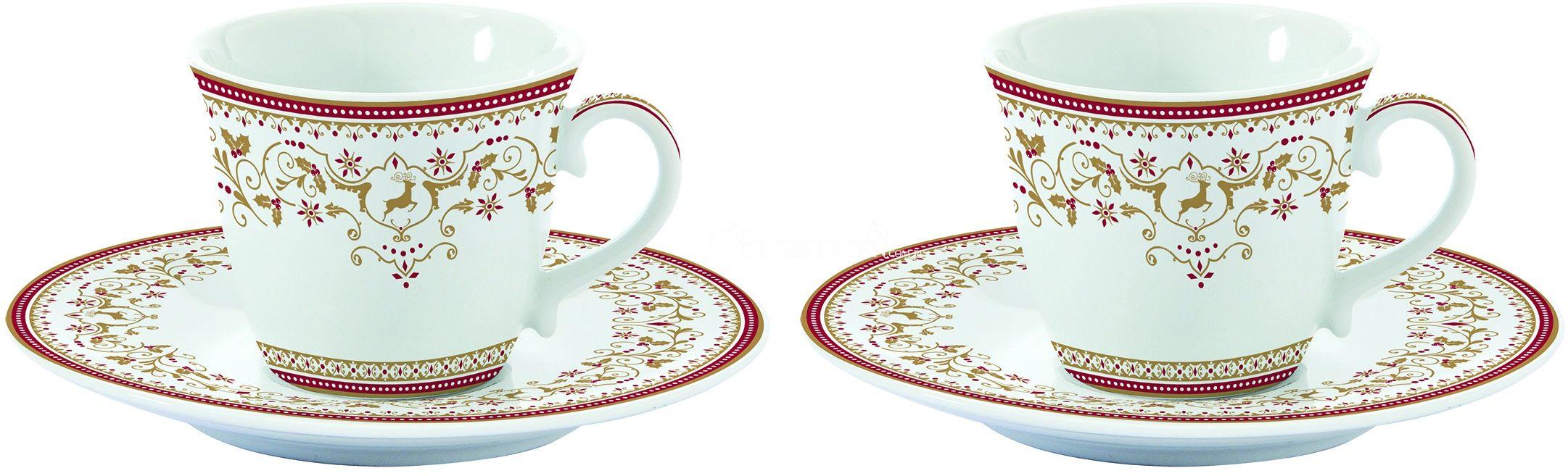 FILIŻANKI PORCELANOWE DO ESPRESSO - Świąteczne Ornamenty - 1107 WICA - Nuova R2S