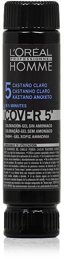 Loreal Homme Cover 5'' NO 5 Żel do koloryzacji dla mężczyzn - Jasny Kasztan 50 ml
