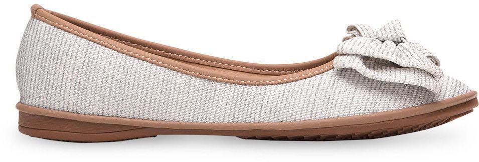 Balerinki damskie Ideal Shoes M-8805 Srebrne