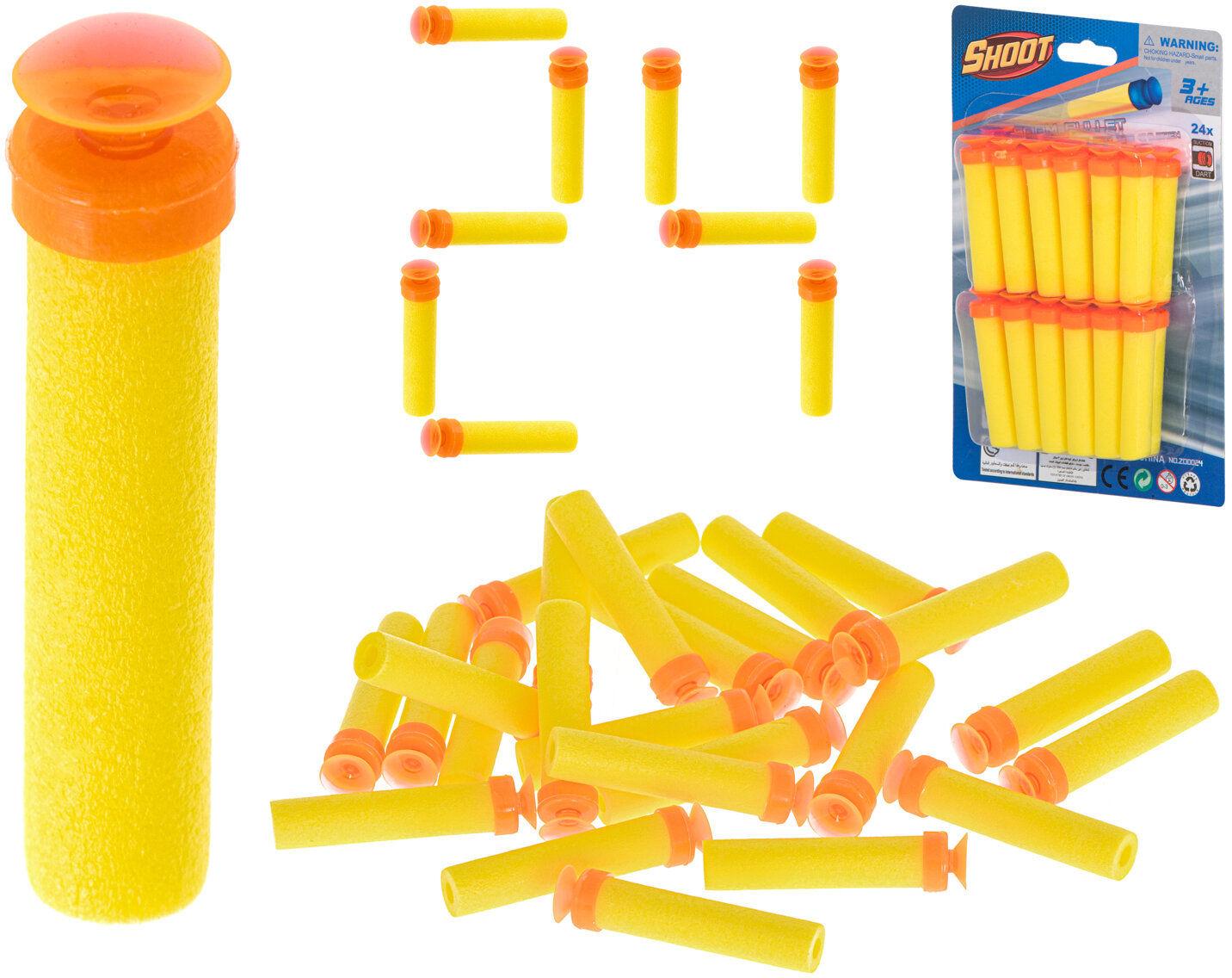 Strzałki kompatybilne z NERF do żółte 24szt.