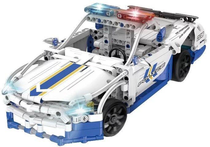 Samochód policyjny - klocki CADA - ZDALNIE STEROWANY (C51006W)
