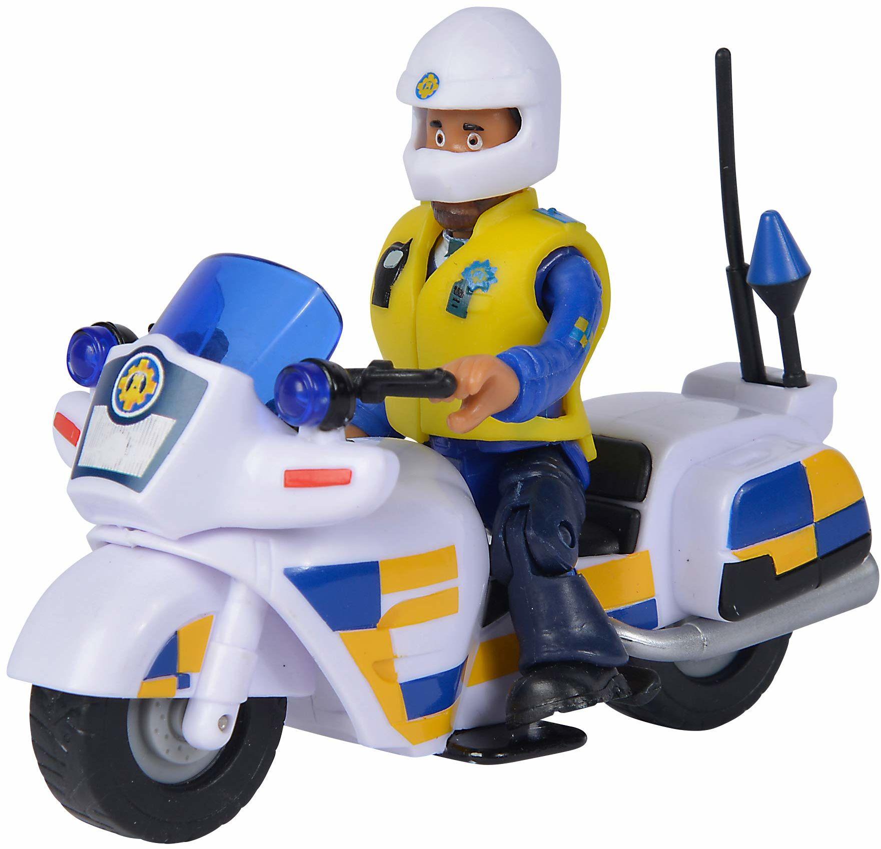 Simba 109251092038 Strażak Sam Motor Policyjny Z Figurką 109251092038