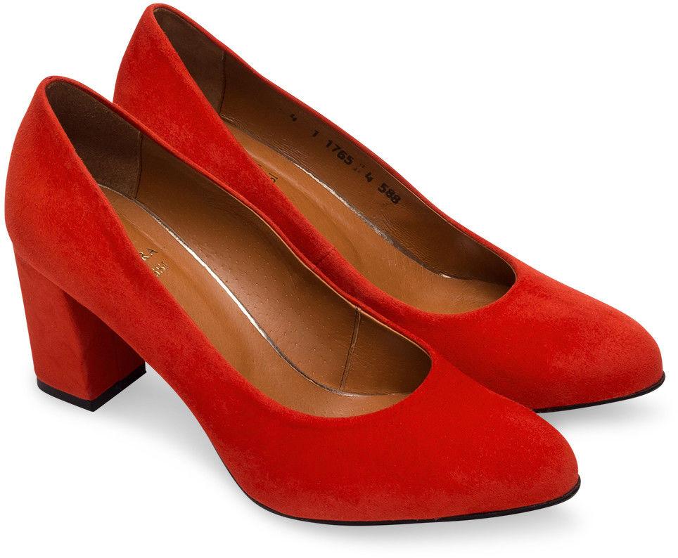 Czółenka damskie Laura Messi 1765 Czerwone