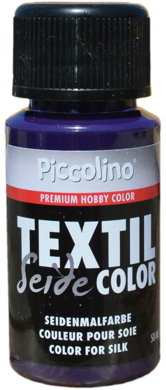 Farba do malowania jedwabiu fioletowa 50 ml - farba do jedwabiu Piccolino Textil Color - farba tekstylna jedwab