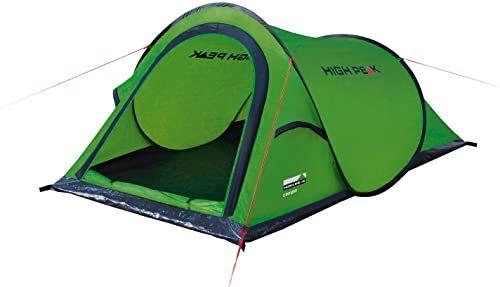 High Peak Campo 2 namiot samorozkładający się namiot dla 2 osób, namiot festiwalowy z dnem wanny, super lekki namiot z szybkim otwieraniem, wodoszczelny, system wentylacyjny, ochrona przed komarami