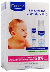 Mustela zestaw na ciemieniuchę szampon 150 ml + krem 40 ml