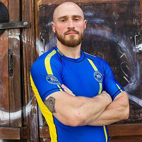 Bistan a Team zamszowa koszulka męska z krótkim rękawem, męska, 3665517002588, niebieski, XS