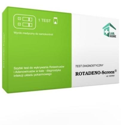 LabHome ROTADENO-Screen test do wykrywania antygenów rotawirusa oraz adenowirusa 1 sztuka