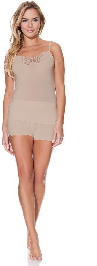 Bambusowa piżama damska VALENTINA Beżowy XL