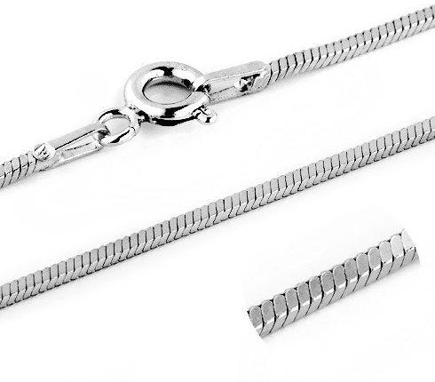 Srebrny Łańcuszek Linka Czterokątna Długość 45cm