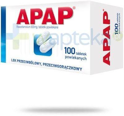 Apap 500mg 100 tabletek