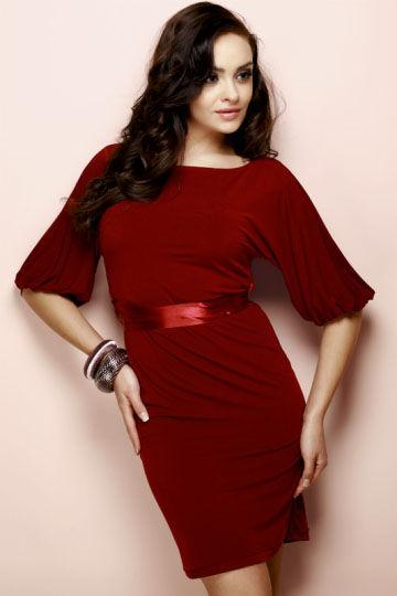 Sukienka Iris Mod.nr.3 Bordo