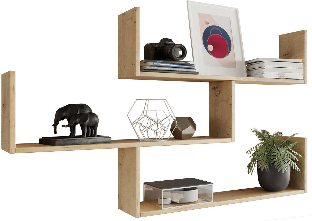 Wisząca półka na książki dąb artisan - Agima