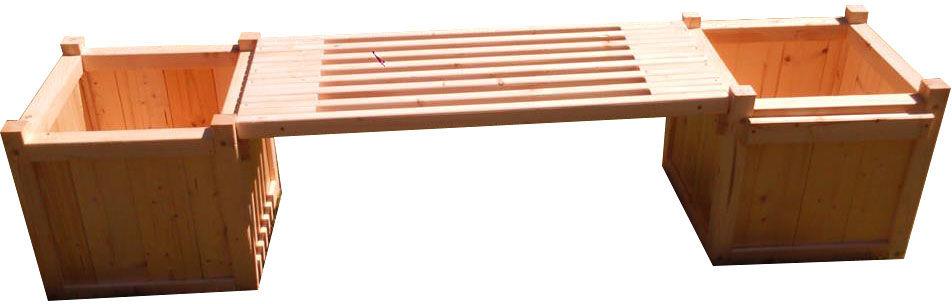 Drewniana donica ogrodowa z siedziskiem - Romda